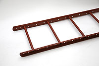 Ladder 1800 x 400 mm (Lacquered in red (RAL 3009)) - RST1840