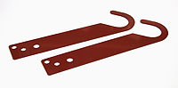 Mounting Brackets (Lacquered in red (RAL 3009)) - RUB5003