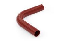 90 degree bend tube (Lacquered in red (RAL 3009)) - RWF9042