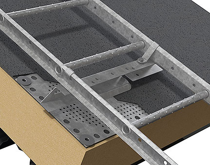 Fixing for sealing layer made of roofing felt or membrane