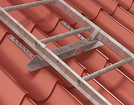 Fixing for roof made of profiled sheet metal