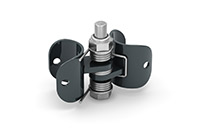 Hinge set pipe 34 mm (Lacquered in gray (RAL 7011)) - GGJ3400