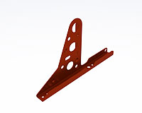 Profiled bracket universal (Lacquered in red (RAL 3009)) - RIP5000
