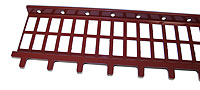 Profiled grating with Ice Slide Bars (Lacquered in red (RAL 3009)) - RIS1500