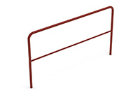 Universal railing industrial (2000 mm) (Lacquered in red (RAL 3009)) - RUI2042